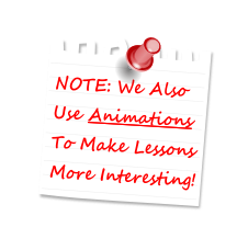 Post It We Use Animations To Make Lessons More Interesting