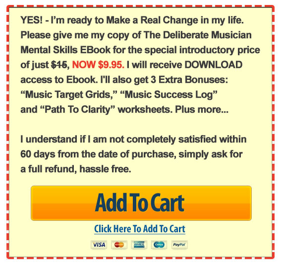 Music School Student E-Book Add To Cart Button